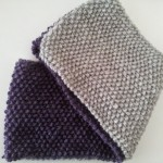 38.- Cuello doble en punto de arroz para niña a dos colores / Cowl for Child with two colors in Seed Stitch