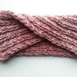 63.- Turbante en punto elástico / Turban Headband in Rib Stitch