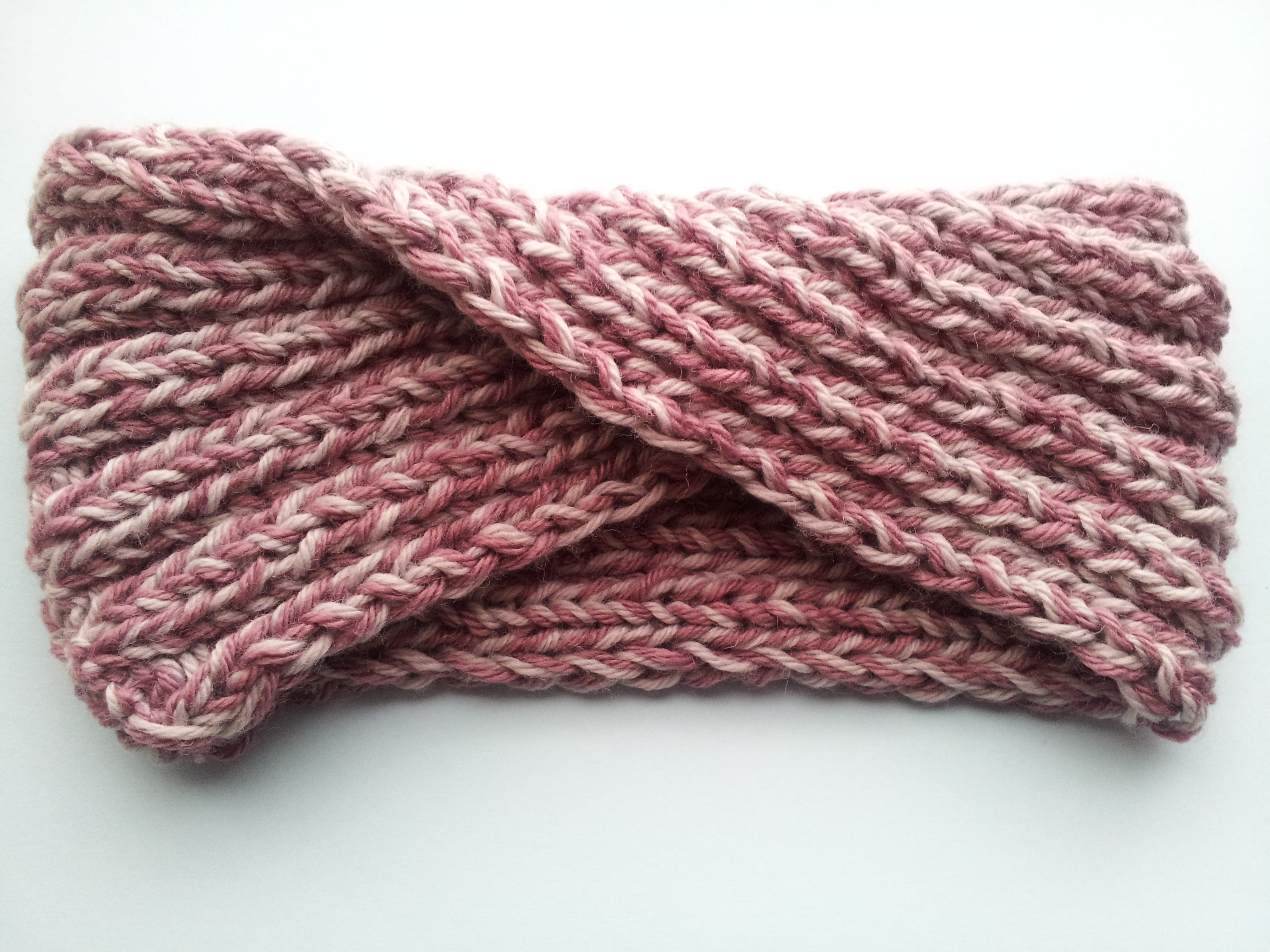 63.- Turbante en punto elástico / Turban Headband in Rib Stitch - Yo ...
